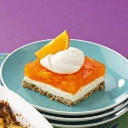 Orange Gelatin Pretzel Salad recipe