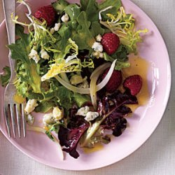 Pickled Onion, Blue Cheese, and Berry Salad recipe