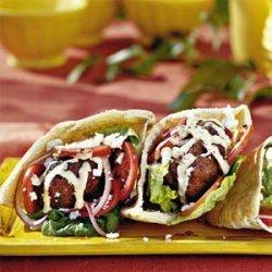 Gyro Burgers with Tahini Sauce recipe