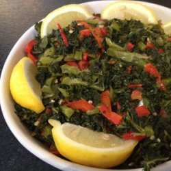 Kale with Garlic and Peppers recipe