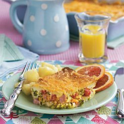 Holly's Broccoli Ham and Cheese Strata recipe