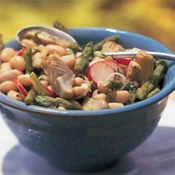 White Bean Salad with Asparagus and Artichokes recipe