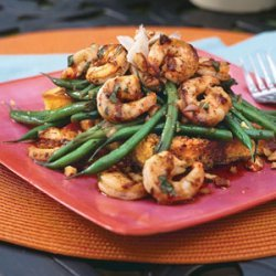 Grilled Shrimp-and-Green Bean Salad recipe