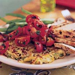 Potato-Zucchini Skillet Pancakes with Cherry Tomato Salad recipe