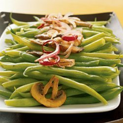 Sauteed Green Beans with Wild Mushrooms recipe