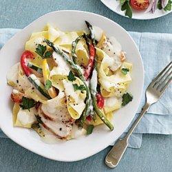 Garden Alfredo with Chicken recipe