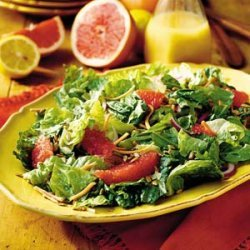 Salad with Red Grapefruit-Lemon Vinaigrette recipe