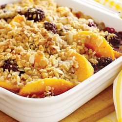 Peach and Blackberry Crumble recipe