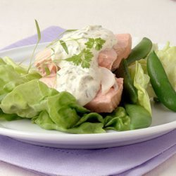 Poached Salmon with Creamy Herb Sauce recipe