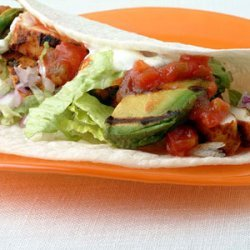 Blackened Chicken and Grilled Avocado Tacos recipe