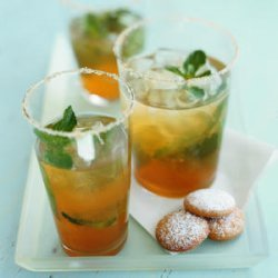 Iced Green Tea with Ginger and Mint recipe