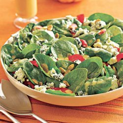 Spinach Salad with Blood Orange Vinaigrette recipe