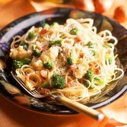 Pasta with Broccoli and Cauliflower in Mustard Sauce recipe
