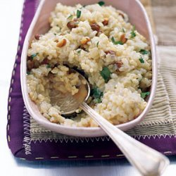 Brown Rice Pilaf with Almonds and Parsley recipe