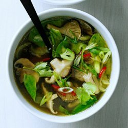 Hot-and-Sour Mushroom Soup with Bok Choy recipe