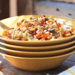 Lemony Rice Salad with Carrots and Radishes recipe