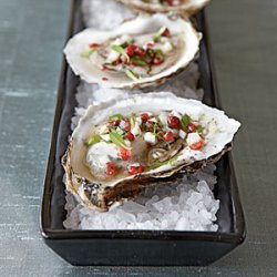 Oysters with Pink Peppercorn Mignonette recipe