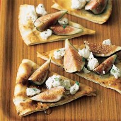 Fig and Goat Cheese Pitas recipe
