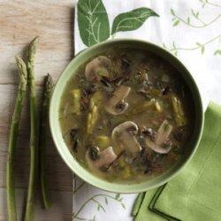 Asparagus and Mushroom Soup recipe
