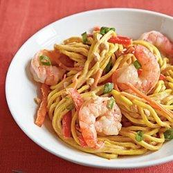 Cold Peanut Noodles with Shrimp recipe