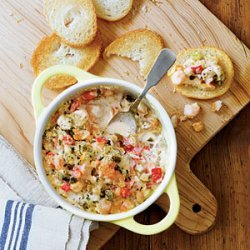 Warm Gumbo Dip recipe