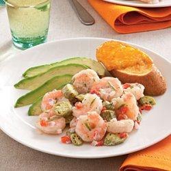 Pickled Okra and Shrimp Salad recipe