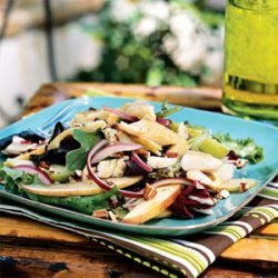 Smoked Trout Salad with Apples and Pecans recipe