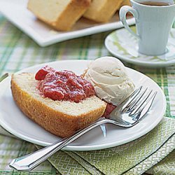 Lemon Pound Cake with Fruit Compote recipe