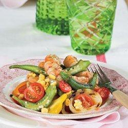 Grilled Shrimp Gumbo Salad recipe