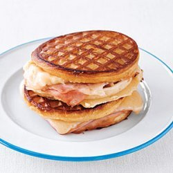 Grilled Ham and Cheese Waffle Sandwiches recipe