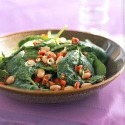Spinach, White Bean, and Bacon Salad with Maple-Mustard Dressing recipe