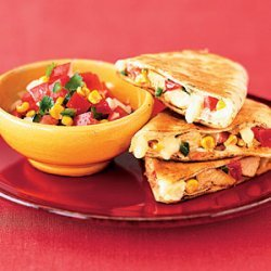 Chicken Quesadillas With Roasted Corn Salsa recipe