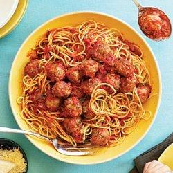Campanile's Spaghetti and Meatballs in Red Sauce recipe