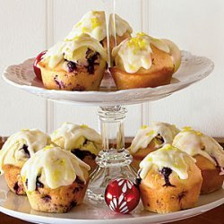 Blueberry Muffins with Lemon-Cream Cheese Glaze recipe