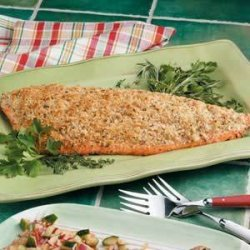 Baked Salmon with Herbs recipe