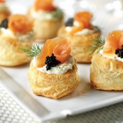 Smoked Salmon Blini Puffs recipe