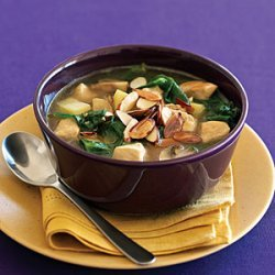 Chicken Soup with Saffron and Almonds recipe