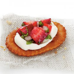 Strawberry Pretzel Crostini recipe