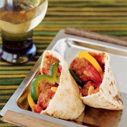 Lamb and Eggplant Meatball Pita Sandwiches recipe