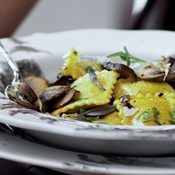 Butternut Squash Ravioli with Mushrooms recipe