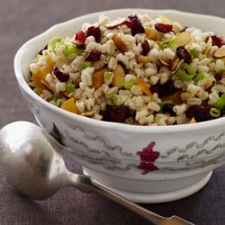 Warm Wheat Berry Salad with Dried Fruit recipe
