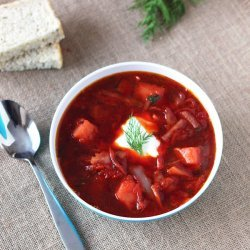 Beet and Cabbage Borscht recipe