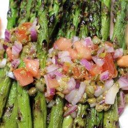 Asparagus with Tomato Vinaigrette recipe