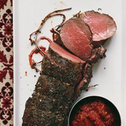 Herbed Fillet of Beef with Tomato Madeira Confit recipe