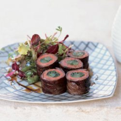 Japanese Beef and Scallion Rolls recipe