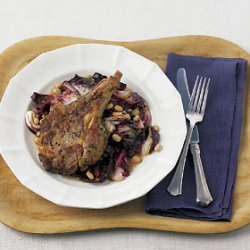 Veal Chop with Radicchio, White Beans, and Rosemary recipe