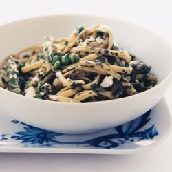 Pasta with Green Vegetables and Herbs recipe