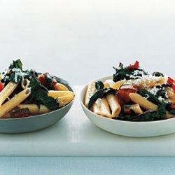 Pasta with Kielbasa and Swiss Chard recipe