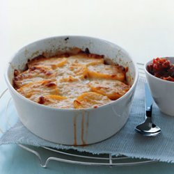 Polenta Pie with Cheese and Tomato Sauce recipe