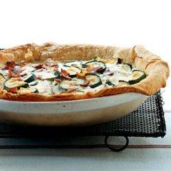 Zucchini, Bacon, and Gruyère Quiche recipe